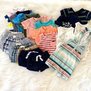 Just One You Carters Baby Boys Newborn Summer Lot